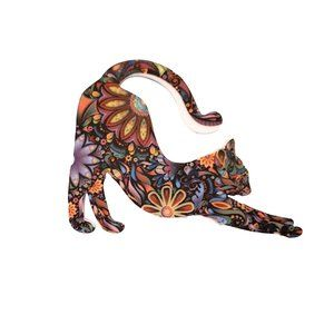 Jewelry - Floral Cat Brooch